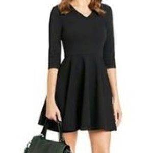 DVF Jeannie V Neck Elbow Navy Dress 2